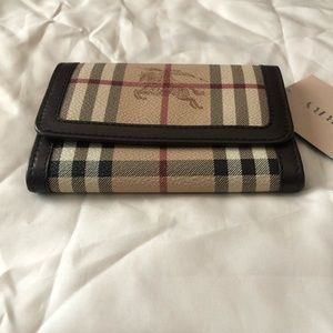 Burberry Chocolate Check Coated Canvas wallet
